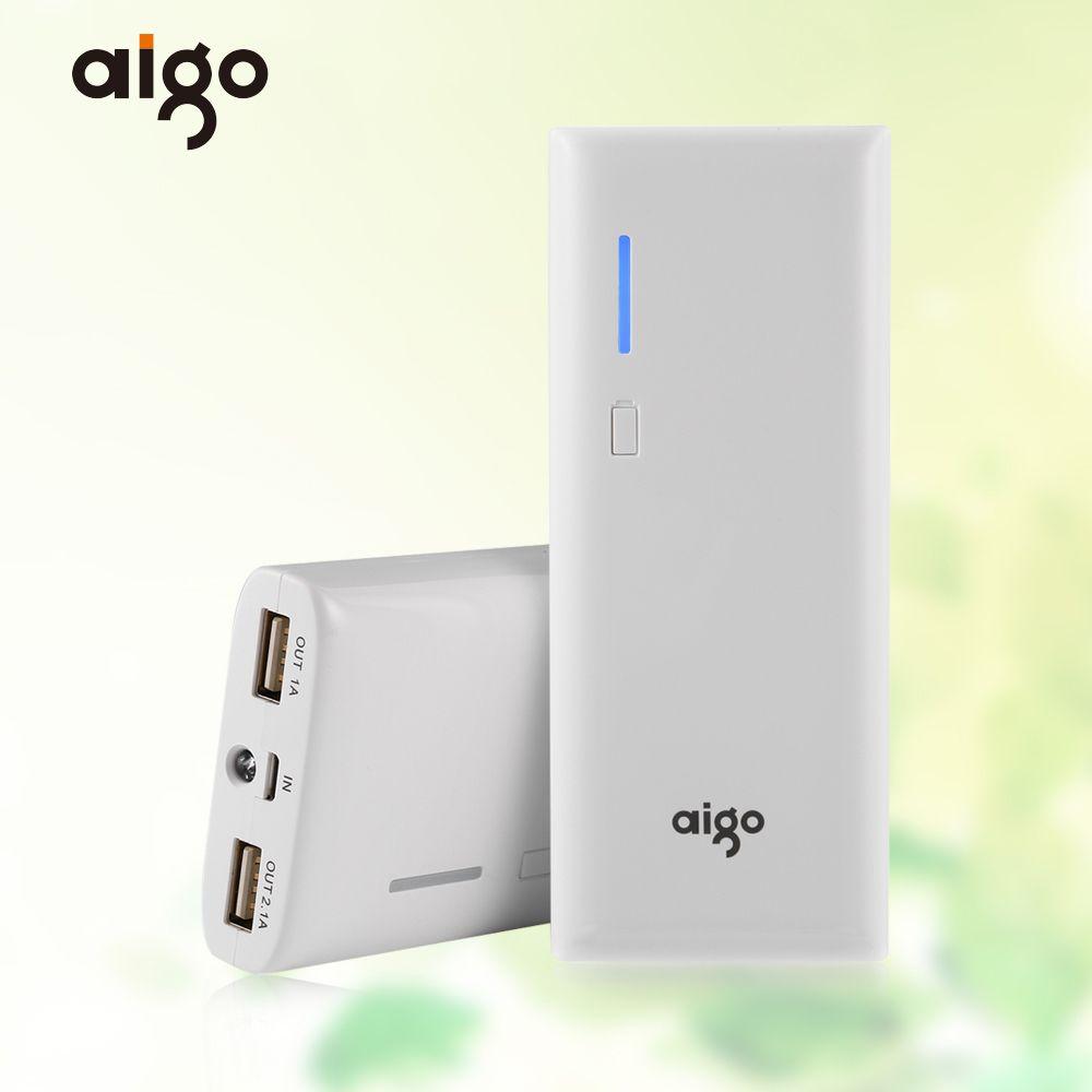 Aigo K112 Puissance Banque 11200 mAh 3.7 V LED Lumière Powerbank 2 Sorties USB Portable Batterie Externe pour Iphone 6 7 7 s X pour Xiaomi MI