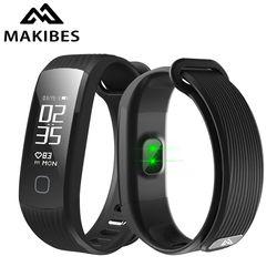 Makibes HR1 Bluetooth Smart Bracelet Fitness Tracker Activité Continue Moniteur de Fréquence Cardiaque 0.96
