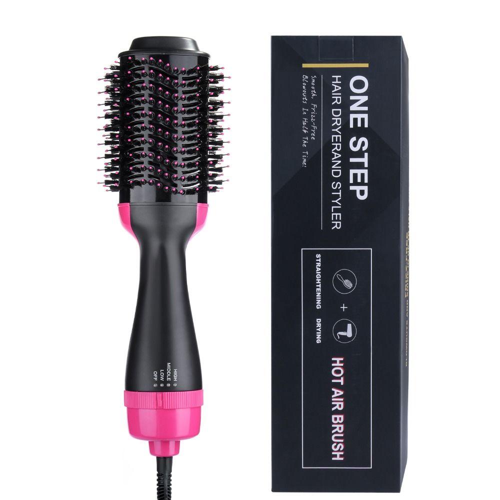 Une étape sèche-cheveux brosse Volumizer Ions négatifs lisseur et bigoudi salon 2 en 1 rouleau électrique Air chaud fer à friser