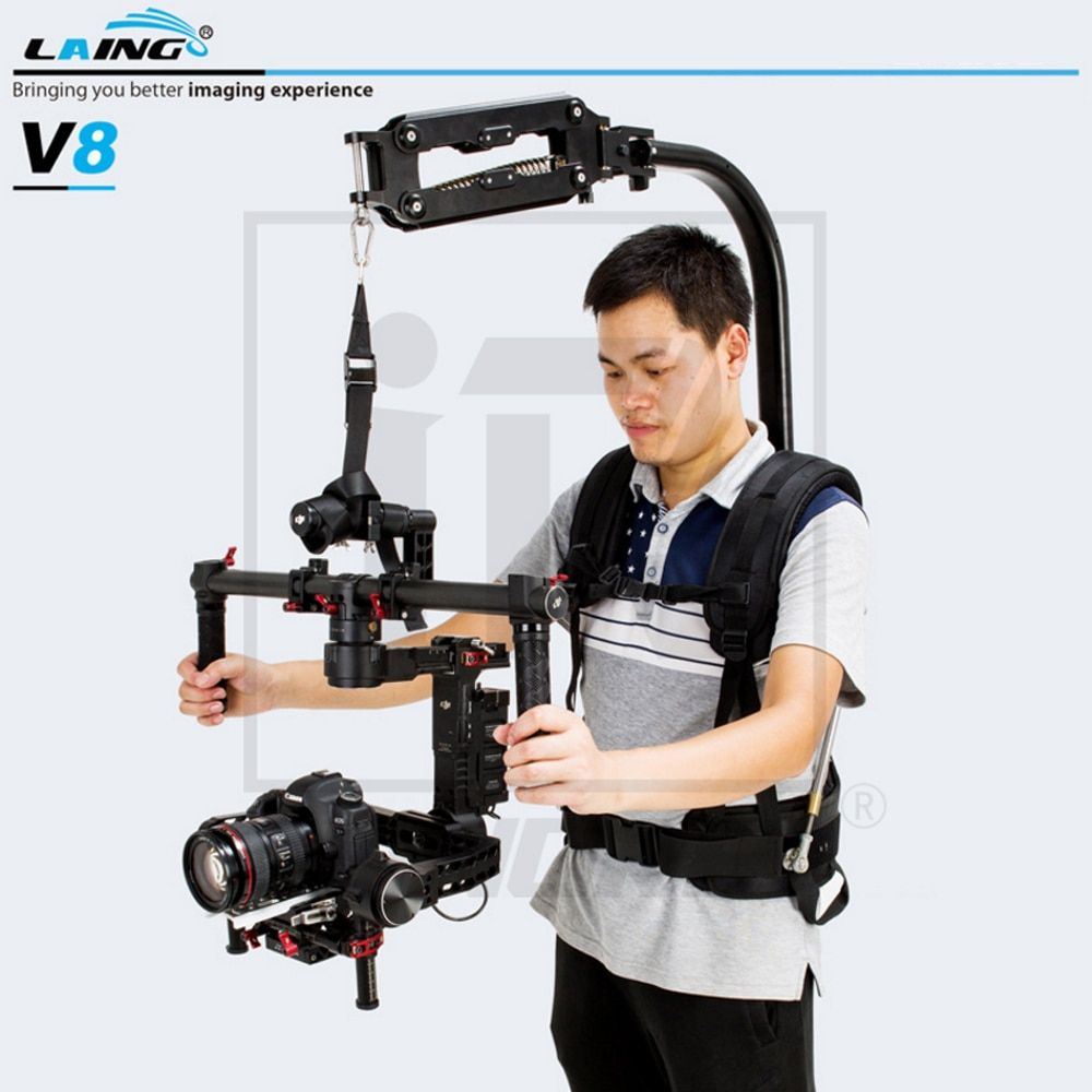 LAING V8 Triaxial Electronic Stabilizer Vest 2-6 3-9 5-16KG Load Capacity Only 4.4kg Net Weight Light Comfortable Easy to handle