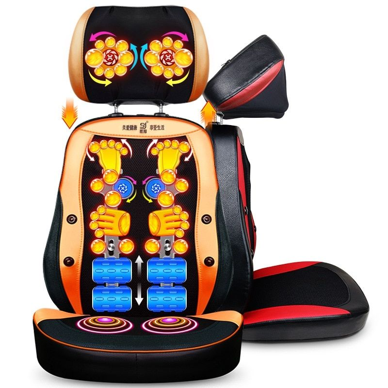 Electric back <font><b>massager</b></font> vibra Cervical malaxation massage device multifunctional pillow neck household full-body Massage chair