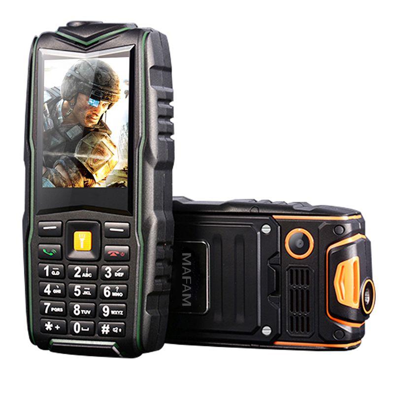 Mampa F8 IP67 étanche 8800 mAh double carte antichoc enregistreur d'appel torche longue veille FM chargeur de batterie externe téléphone robuste P128
