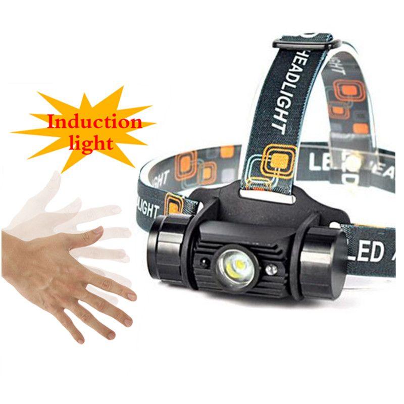 5000 <font><b>Lumen</b></font> 5W Mini IR Sensor Headlight Induction Usb Rechargeable Lantern Headlamp 1-Mode Flashlight Head Torch