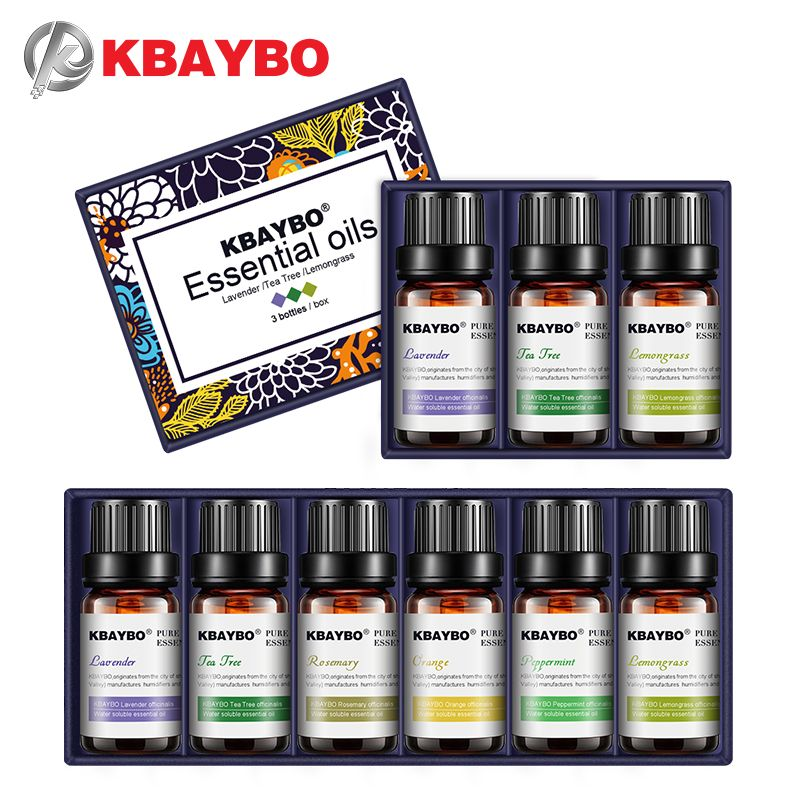 KBAYBO essential oils for aromatherapy diffusers lavender tea tree lemongrass tea tree rosemary Orange oil