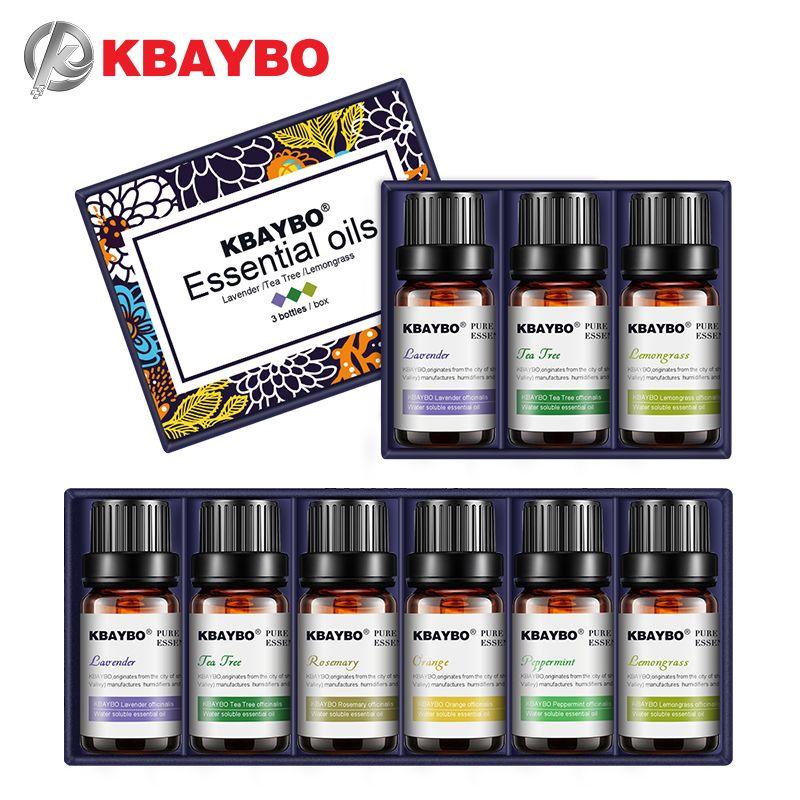 KBAYBO huiles essentielles pour aromathérapie diffuseurs lavande arbre à thé citronnelle arbre à thé romarin Orange huile