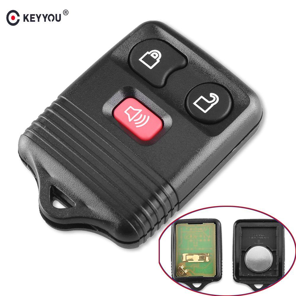 KEYYOU remplacement clé de voiture 315/433MHZ 3 boutons adaptés pour Ford Keyless entrée télécommande voiture clé Fob Clicker transmetteur