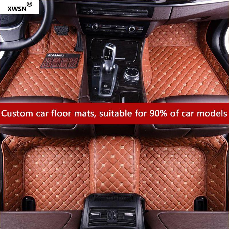XWSN custom car floor mat for Volvo S60L V40 V60 S60 XC60 XC90 XC60 C70 s80 s40 auto accessories Car styling Car carpet