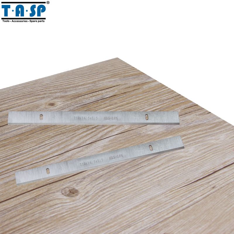 TASP 210mm HSS Thickness Planer Blade 210x16.5x1.5mm Wood Planer Knife for Woodworking Power Tool Parts