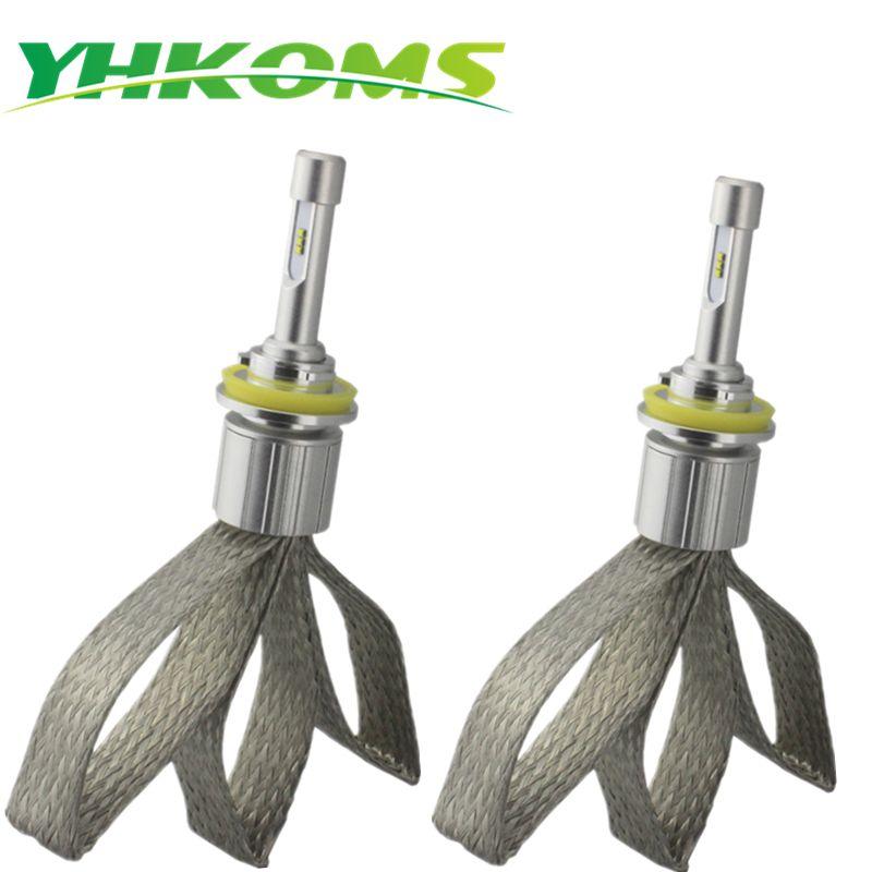 YHKOMS LED Car Headlight H8 H9 H11 H1 H3 9005 HB3 9006 HB4 H4 H7 Auto LED lamp 40W 4800LM Fog Light 6000K White Light 12V