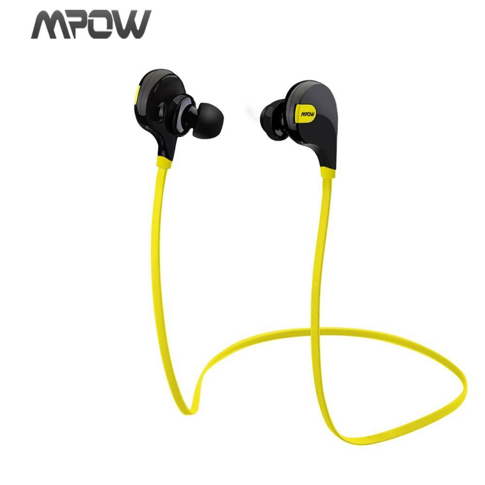 Mpow Swift MBH5 Handsfree Bluetooth 4.0 Earphone Wireless Stereo Sport <font><b>Headphones</b></font> Mic Earbuds AptX for iPhone 6 Samsung Xiaomi