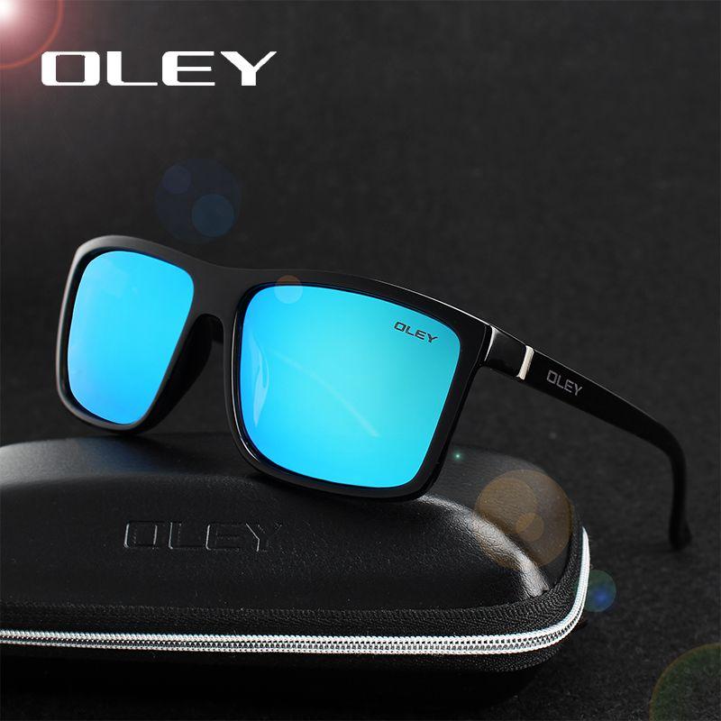 OLEY HD Polarisées Hommes lunettes de Soleil marque designer Rétro Carré Soleil Lunettes Accessoires Unisexe conduite lunettes oculos de sol Y6625