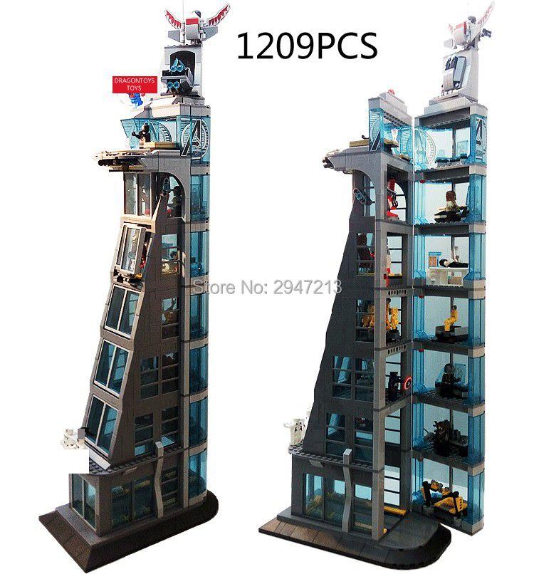 compatible LegoINGlys Marvel Super Hero Avengers turret moc Building blocks mini Captain America Spider Man figures brick toys