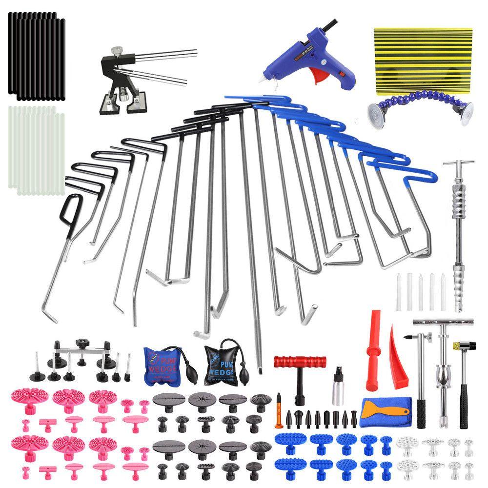 Dent Puller PDR Tool for Hail Damage Removal Dent Repair PDR Rods Slide Hammer Dent Lifter Glue Gun Tap Down Pdr Reflect Board