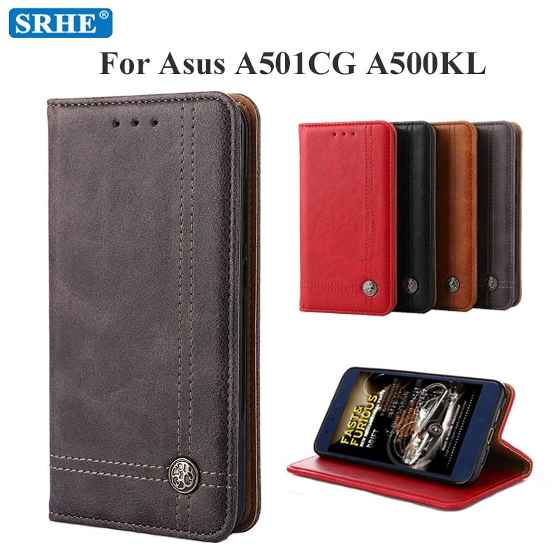 Flip Leather Shockproof Case For Asus ZenFone 5 A501CG A500KL A500CG Case Luxury Wallet Cover For Asus ZenFone 5 T00J T00F Coque