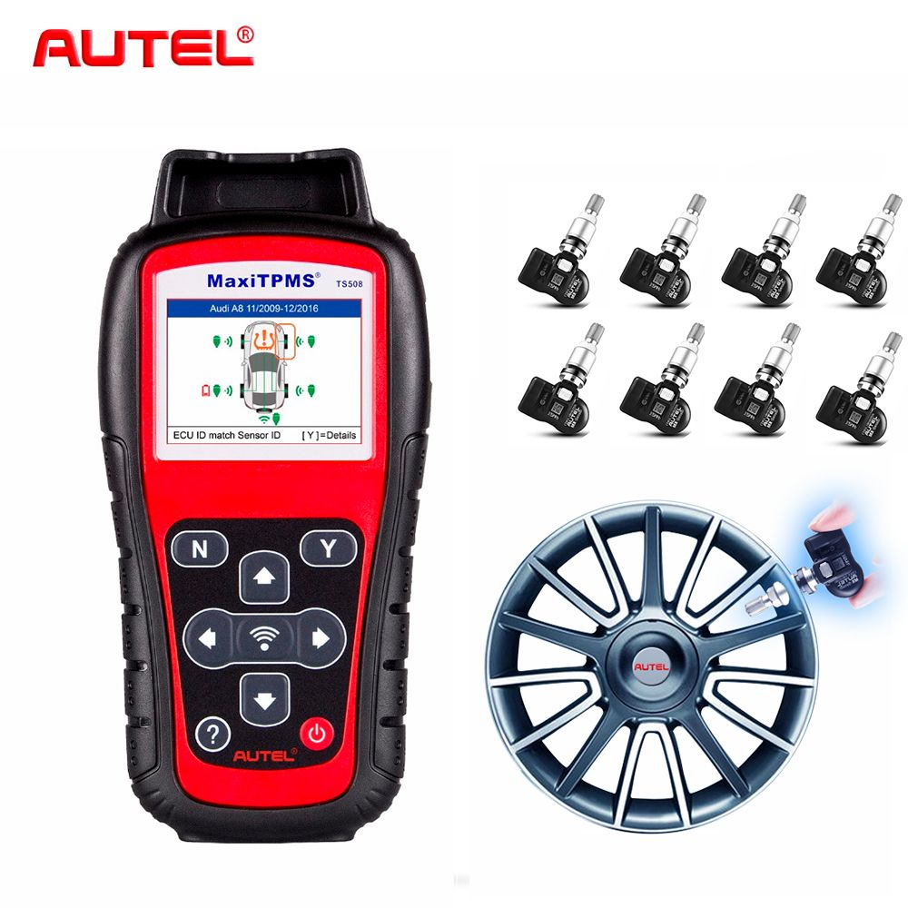Autel TS508K + 8PCS 315Mhz Premium TPMS Service Car Diagnostic Tool Activate Tire Pressure Sensor Program ECU T