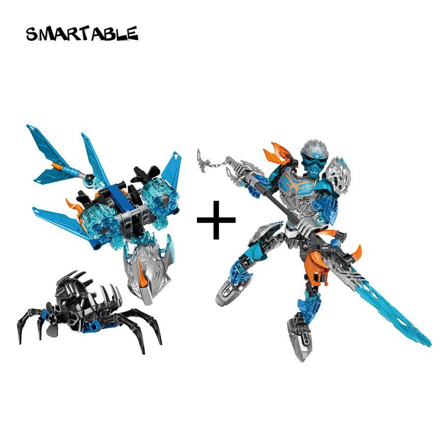 BIONICLE Smartable Akida créature d'eau + Gali eau mer berger bloc de construction jouets Compatible toutes les marques 71302 + 71307 BIONICLE