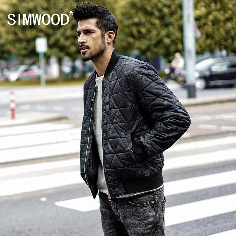 SIMWOOD Fashion Brand 2018 bomber jacket Men winter jacket parka men coats streetwear Military pilot jacket Male MD017004