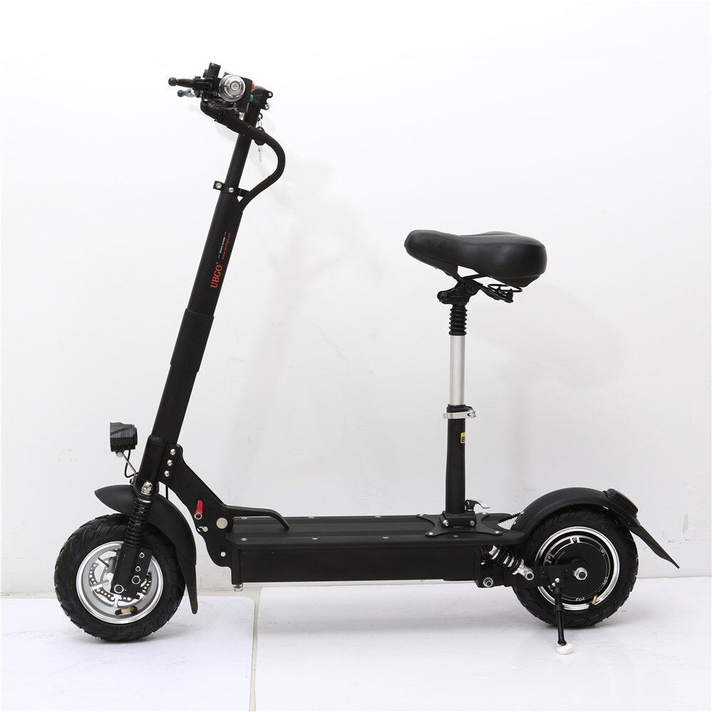 UBGO 1004 Single Driver Vacuum Tire 10 INCH Foldable Electric Scootor with 1000W Turbine Motor