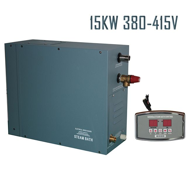 Free Shipping 15KW380-415V50HZ STEAM GENERATOR WITH DIGITAL CONTROLLER SHOWER SAUNA BATH HOME SPA GREAT POPULAR