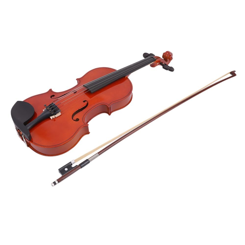 4/4 High Grade Full Size Solid Wood Natural Acoustic Violin Fiddle With Case Bow Rosin Professional Musical Instrument New