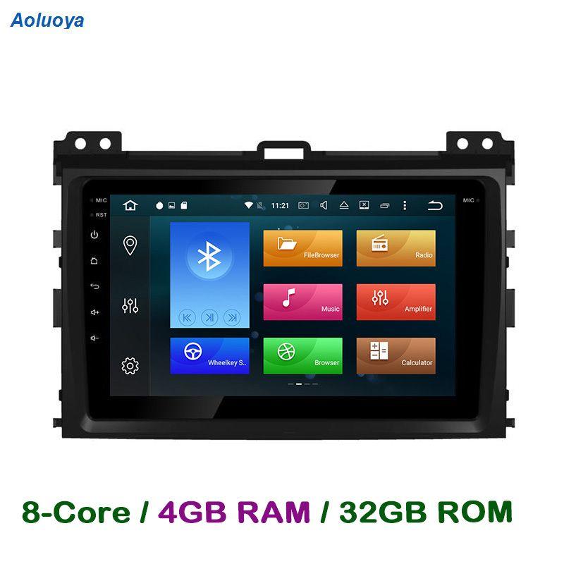 Aoluoya RAM 4GB Octa-Core Android CAR DVD GPS Player For Toyota Prado 120 Land Cruiser 120 2002-2010 Radio GPS Navigation WIFI
