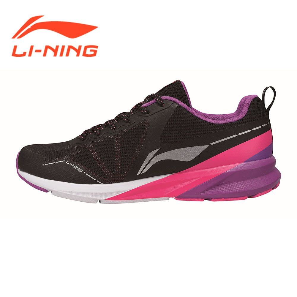 Li-Ning Women Running Shoes Sneaker Cushion Rubber Breathable Colorful Series Female Sport Shoes Pink/Purple/Red LiNing ARHM036