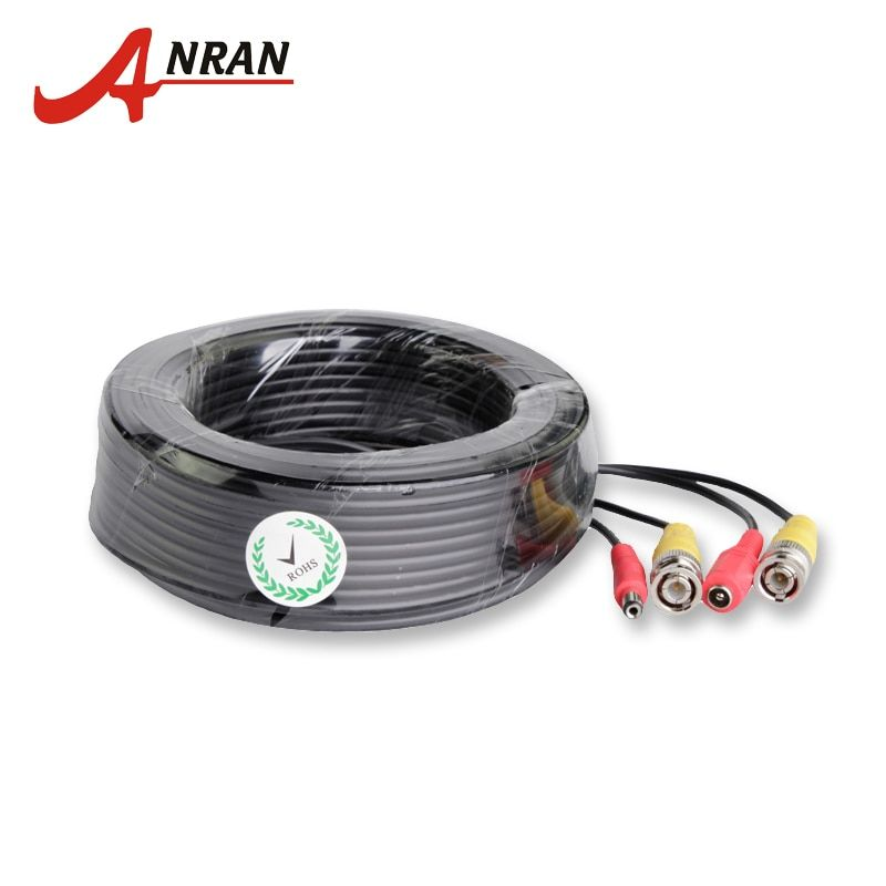 ANRAN BNC Video Power Siamese Cable 60ft 18.3m for Analog AHD CCTV Camera DVR Kit Surveillance Accessories