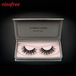 visofree eyelashes 3D Mink Lashes Full Strip Lashes False Eyelashes Handmade Mink Lashes Cruelty free Reusable Upper Lashes D22