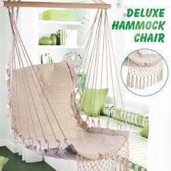Nordic Style Deluxe Hammock Outdoor Indoor Garden Dormitory Bedroom Hanging Chair For Child Adult Swinging Single Safety Chair