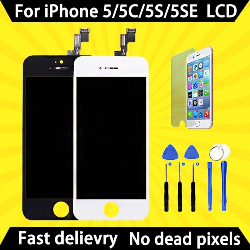 Factory sales AAA quality screen for iPhone 5 5S 5C SE 5SE LCD screen display and digitizer replacement touch screen Add free to
