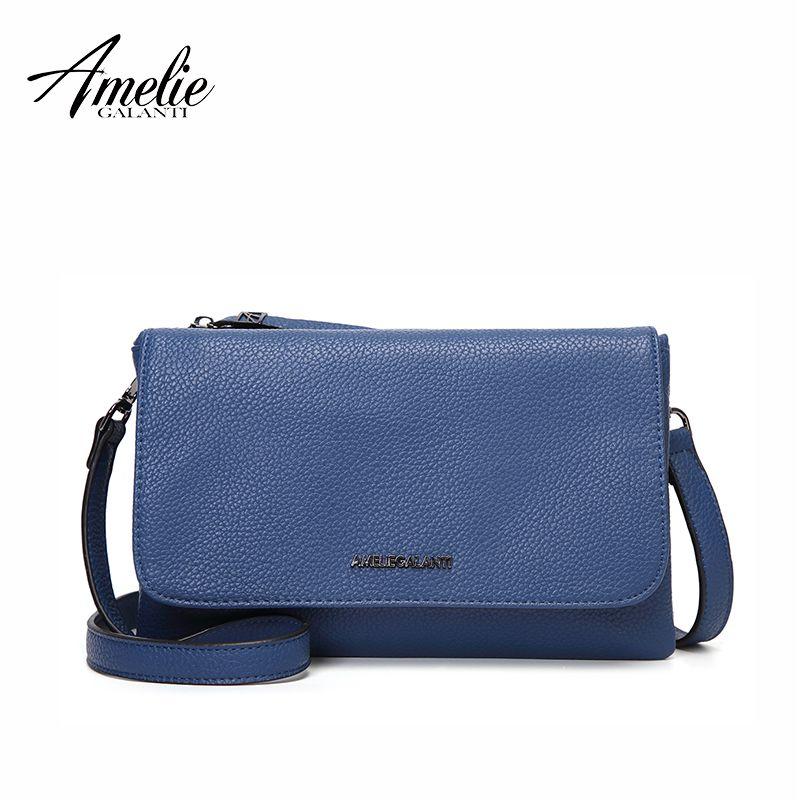 AMELIE GALANTI Hülle Tasche Frauen Schulter Taschen Weiche PU Leder Frauen Umhängetaschen Fashion Solid Handtaschen für Frau 2018