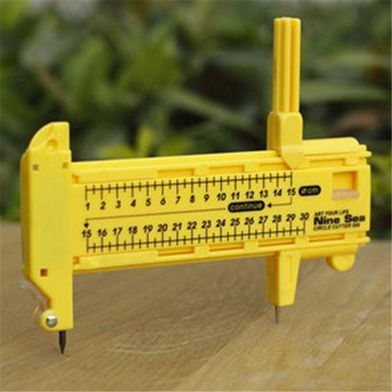 Kompass Kreisschneider Runde Schneidmesser Modell Patchwork Werkzeuge Zubehör Bogen Schneider Umfasst 5 Ersatzklingen