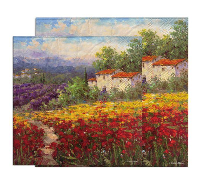 20 serviettes paysage serviettes vintage pays serviettes 25*25 cm 2-plis rétro décoratif serviettes pour decoupage-YL1611