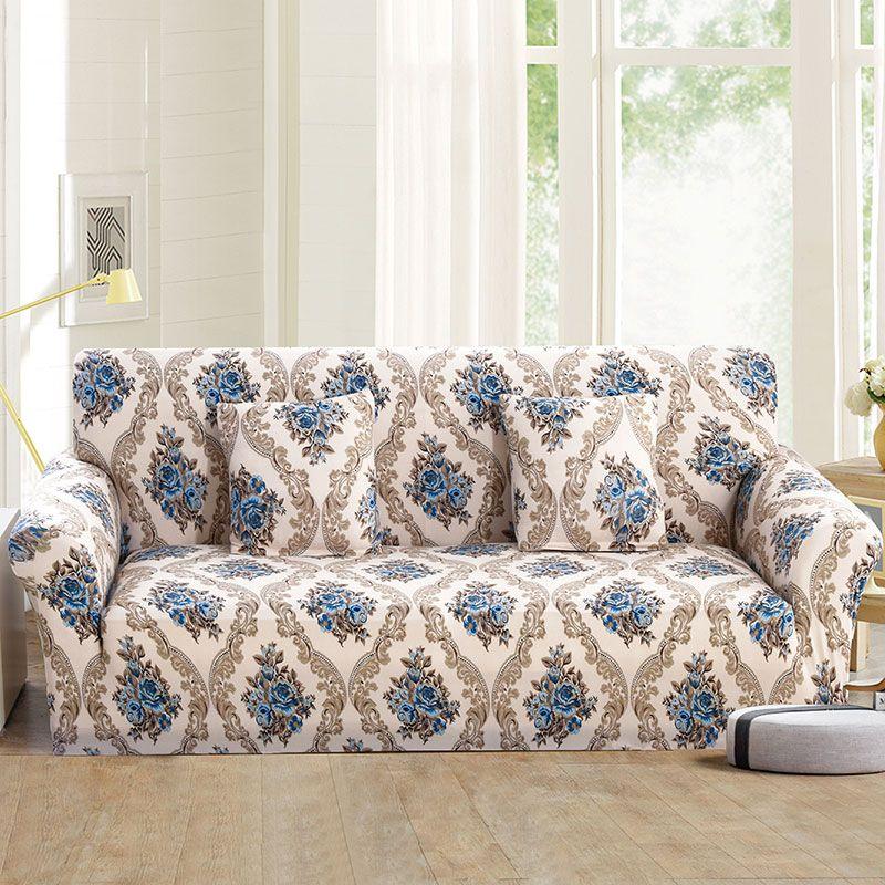 Housse de canapé élastique enveloppement serré tout compris I en forme de housse de canapé housse de canapé pas cher extensible housses de meubles 1/2/3/4 places 1PC