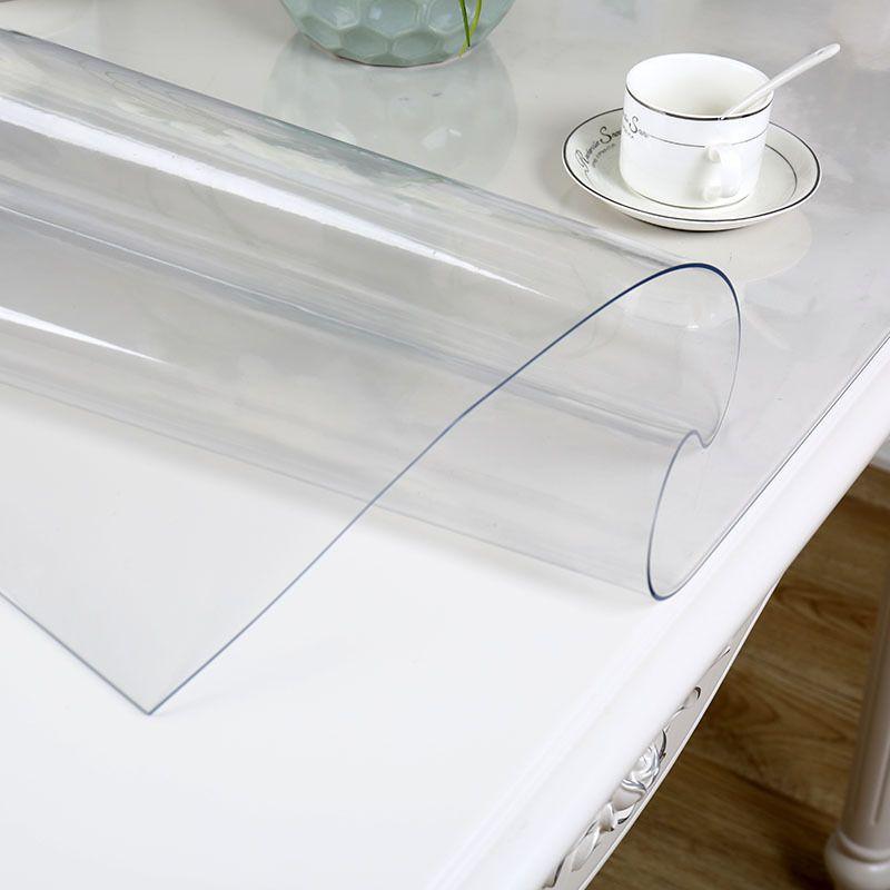 IHAD PVC nappe imperméable Transparent Nappe avec motif Cuisine Couverture De Table Huile Tissu Nappe de Verre Doux 1.0mm