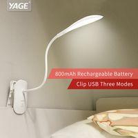 Yage 5932 libro luz de lectura ligera de la noche de la batería 14 lámpara de mesa led clip luz led Moderna Plegable accesorios incluyen batería