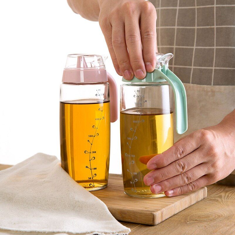 Flake glass frit with large scale oil bottle kitchen supplies leakproof installed vinegar tank
