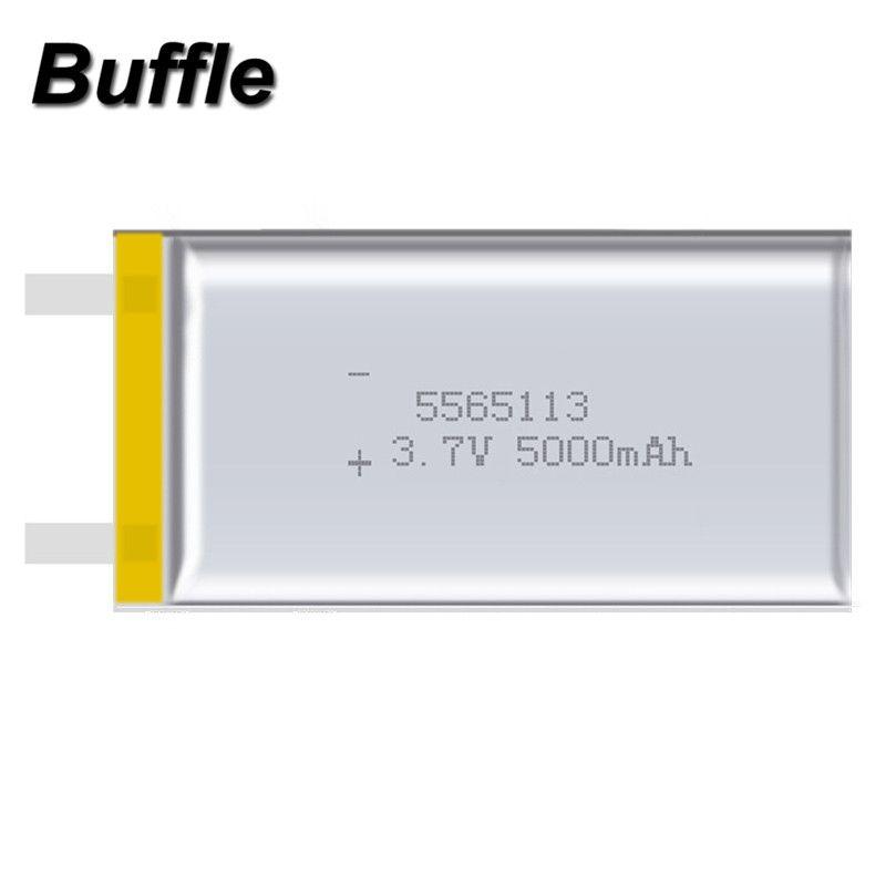5 pcs/lot 5565113 Capacité réelle 5000 mah Li-ion 3.7 v Batterie Rechargeable Au Lithium Polymère D'alimentation de Secours Mobile Produit Numérique
