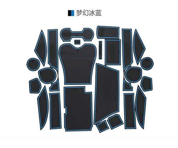 For LEXUS RX270 RX350 RX450h 2009-214 Non-slip Car Interior Cup Cup Mat Doormat Cushion Cover Stickers 24 pcs per set