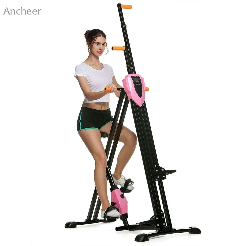 ANCHEER New Vertical Climber Gym Exercise Fitness Machine Stepper Cardio Workout Training non-stick grips Legs Arms Abs Calf