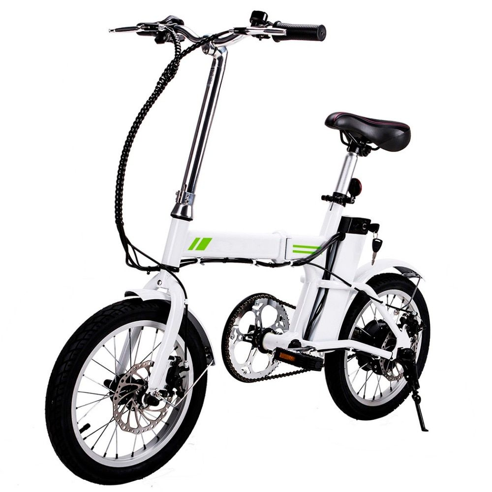 Ancheer 16 Inch New Outdoor E-Bike Folding Electric Bicycle with Collapsible Frame and Handlebar Display EU Plug
