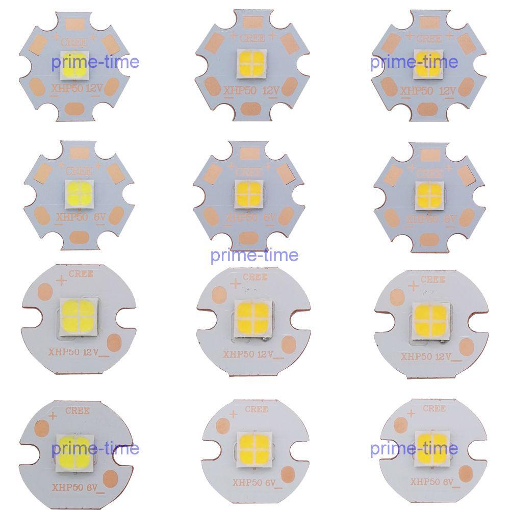Cree XHP50 6 V 12 V 6500 K Blanco Frío 5000 K Blanco Neutro 3000 K Caliente blanco LED Emisor 2546lm 19 W J2 Dide en 16mm 20mm PCB De Cobre