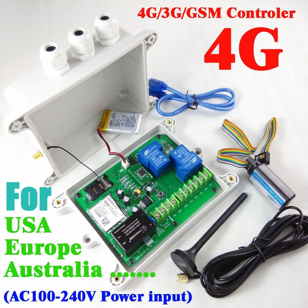 4G/3G/GSM doppelrelais fernschalter controller (SMS Relais schalter) Akku für die abschaltung alarm GSM-AUTO-AC 4G