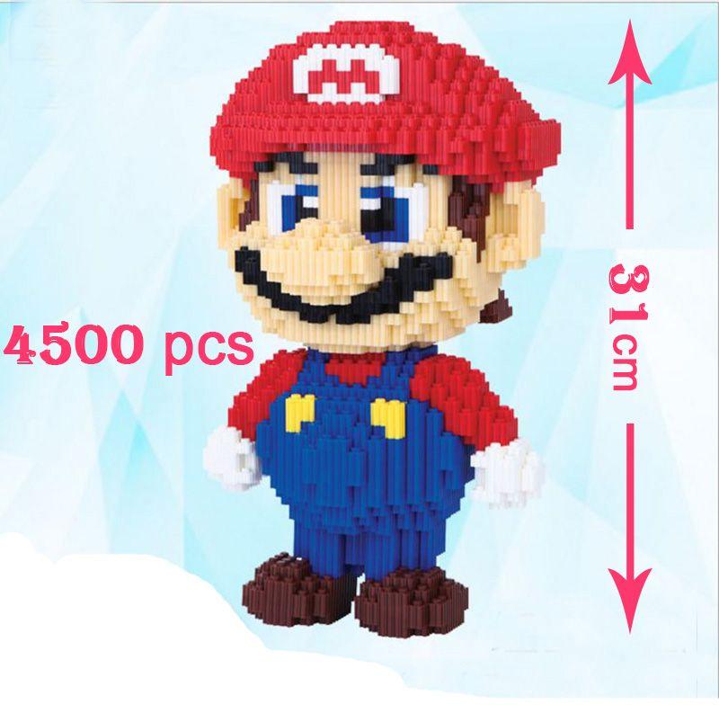 31cm 4500 pièces éducation Mini bloc Nano pour enfants cadeau spécial dessin animé Figure Super Mario modèle construction blocs magiques briques jouet