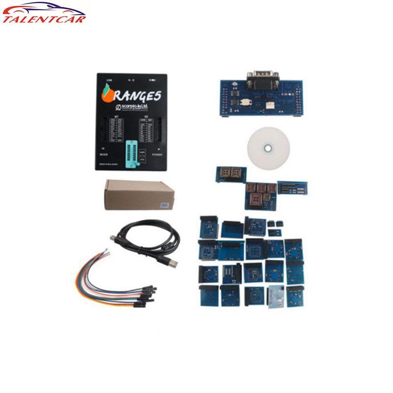 High Quality 2017 OEM Orange5 Programmer Orange 5 Full Adapter with Enhanced Software In Stock Orange 5 Auto Ecu Chip Programmer