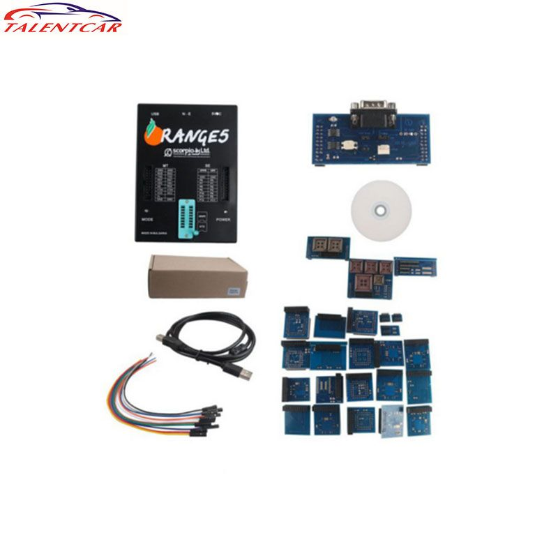 High Quality 2017 OEM Orange5 Programmer Orange 5 Full Adapter with Enhanced Software In Stock Orange 5 Auto Ecu Chip Programmer