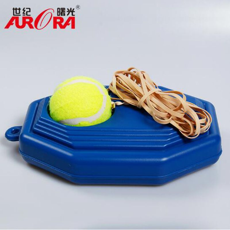 Hot Heavy Duty Tennis Training Tool+ Exercise Tennis Ball Self-study Rebound Ball with Tennis Trainer Baseboard Sparring Device
