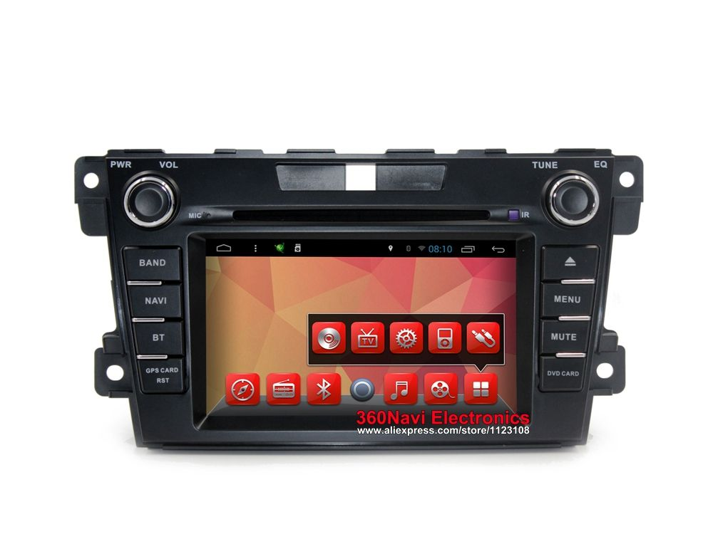 Octa Core Android 7.1 Car DVD GPS for Mazda CX-7 2008-2012 Autoradio GPS with BT Radio RDS Wifi Mirror-link 8GB map card