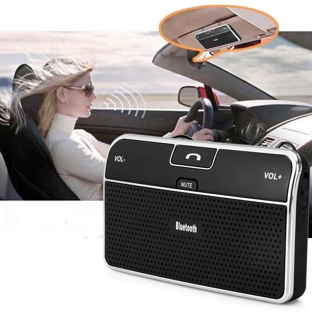 New Universal Phone Speaker Bluetooth 4.0 Car Bluetooth Receiver Speakerphone Handsfree Bluetooth Adapter 3.5mm for Phone Tablet