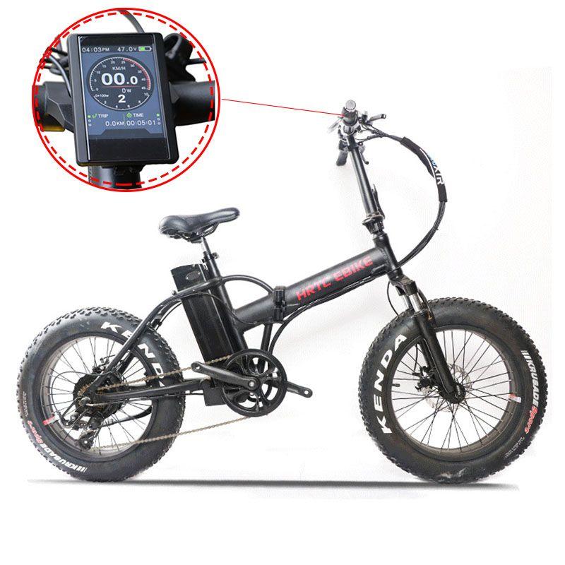 20 zoll elektrische fahrrad 48v500w bafang motor TFT LCD fett ebike Falten elektrische mountainbike Strand schnee 4,0 Fett reifen fahrrad